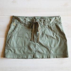 Express Army Green Mini Skirt
